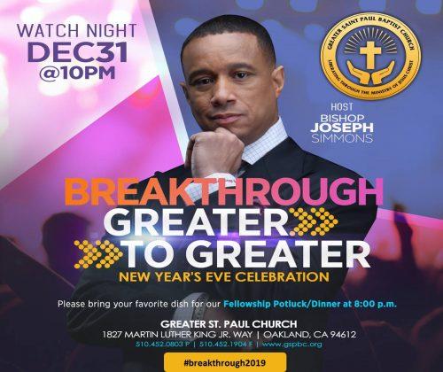 Greater St Paul Watch Night 2018