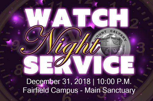 Mount Calvary Baptist Church Watch Night 2018