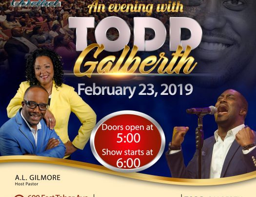 Bethel Community Church An Evening With Todd Galberth 2019