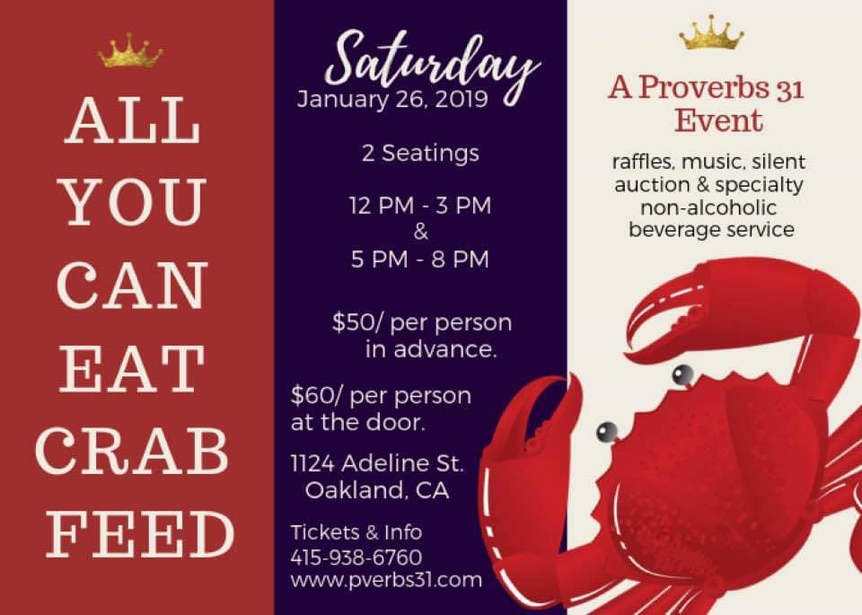 Proverbs 31 All You Can Eat Crab Feed 2018
