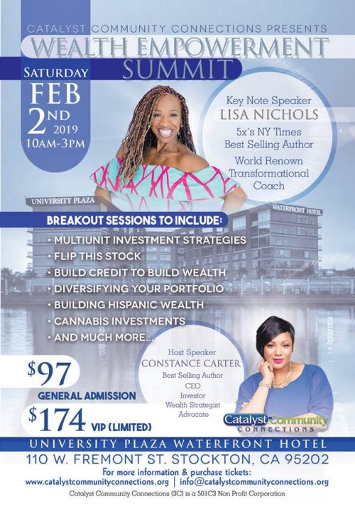 Wealth Empowerment Summit With Lisa Nichols Stockton 2019
