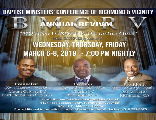 Baptist Ministers Conference Richmond & Vicinity - 2019 City Wide Revival