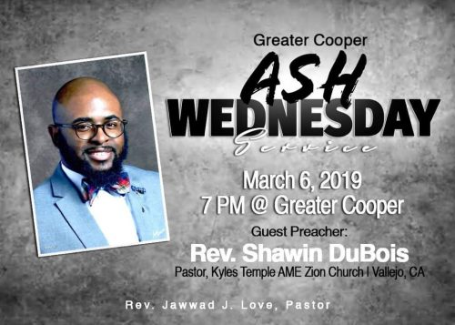 Greater Cooper AME Zion Ash Wednesday 2019