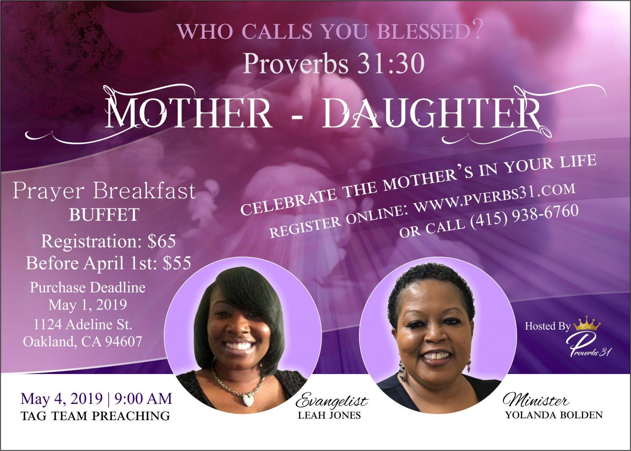 Proverbs 31 Mother Daughter Prayer Breakfast 2019
