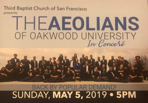 The Aeolians of Oakwood University in Concert