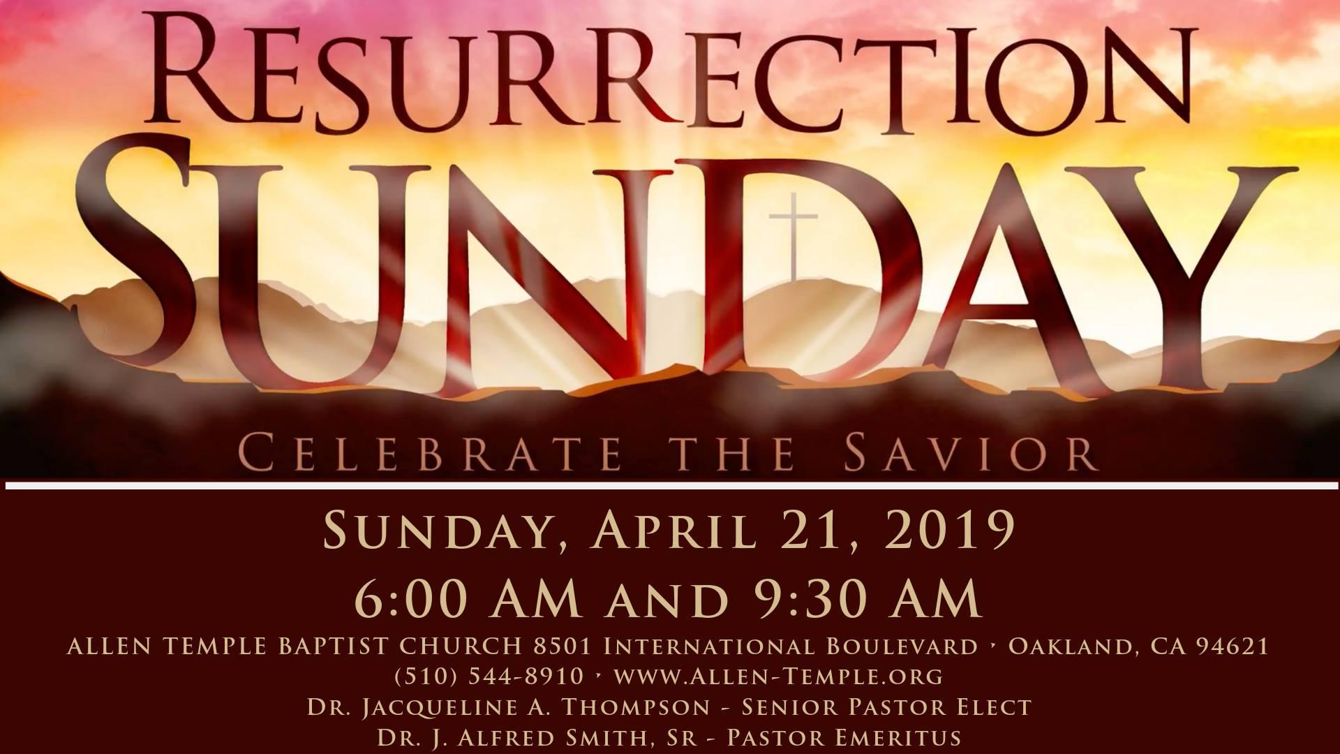 Allen Temple Baptist Church Resurrection Sunrise Service 2019
