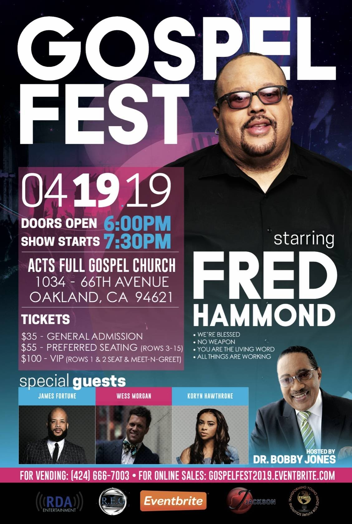 Fred Hammond James Fortune Wess Morgan Gospel Fest 2019