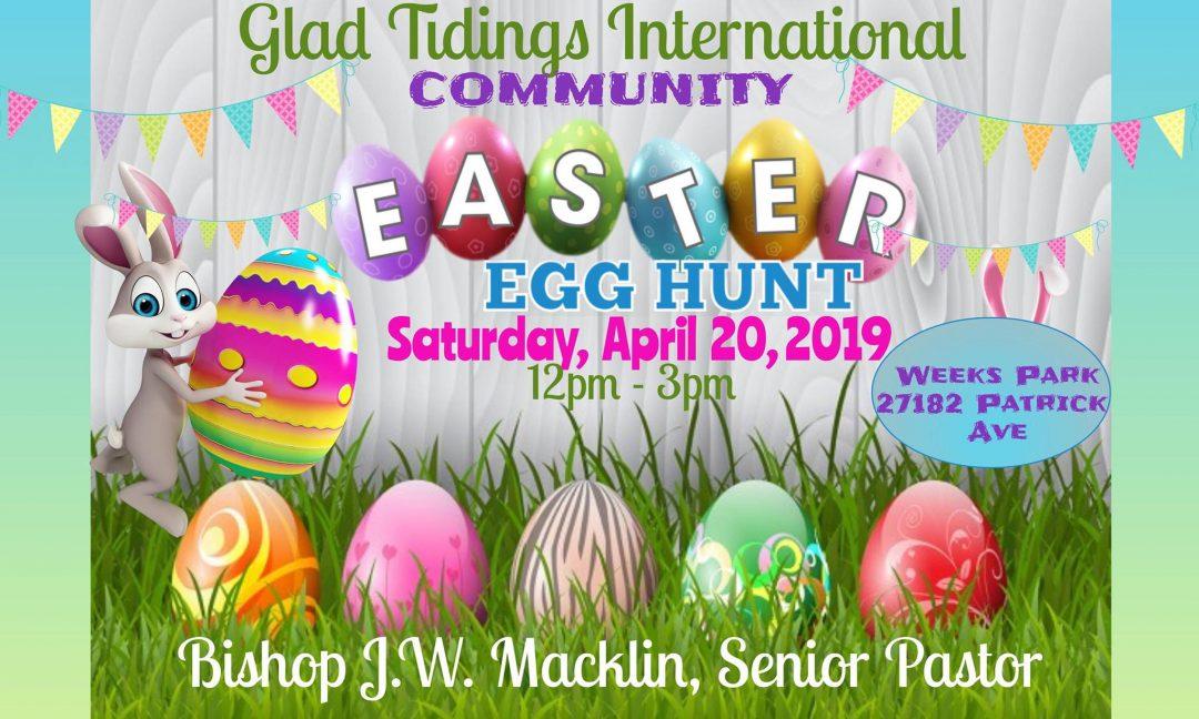 Glad Tidings Cogic Easter Egg Hunt 2019
