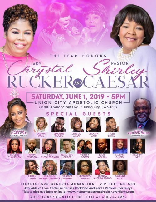 The Team Honors Pastor Shirley Caesar and Lady Chrystal Rucker