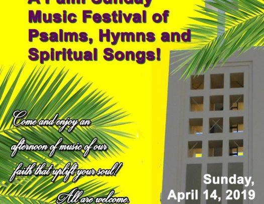 Third Baptist Church Palm Sunday Music Festival 2019