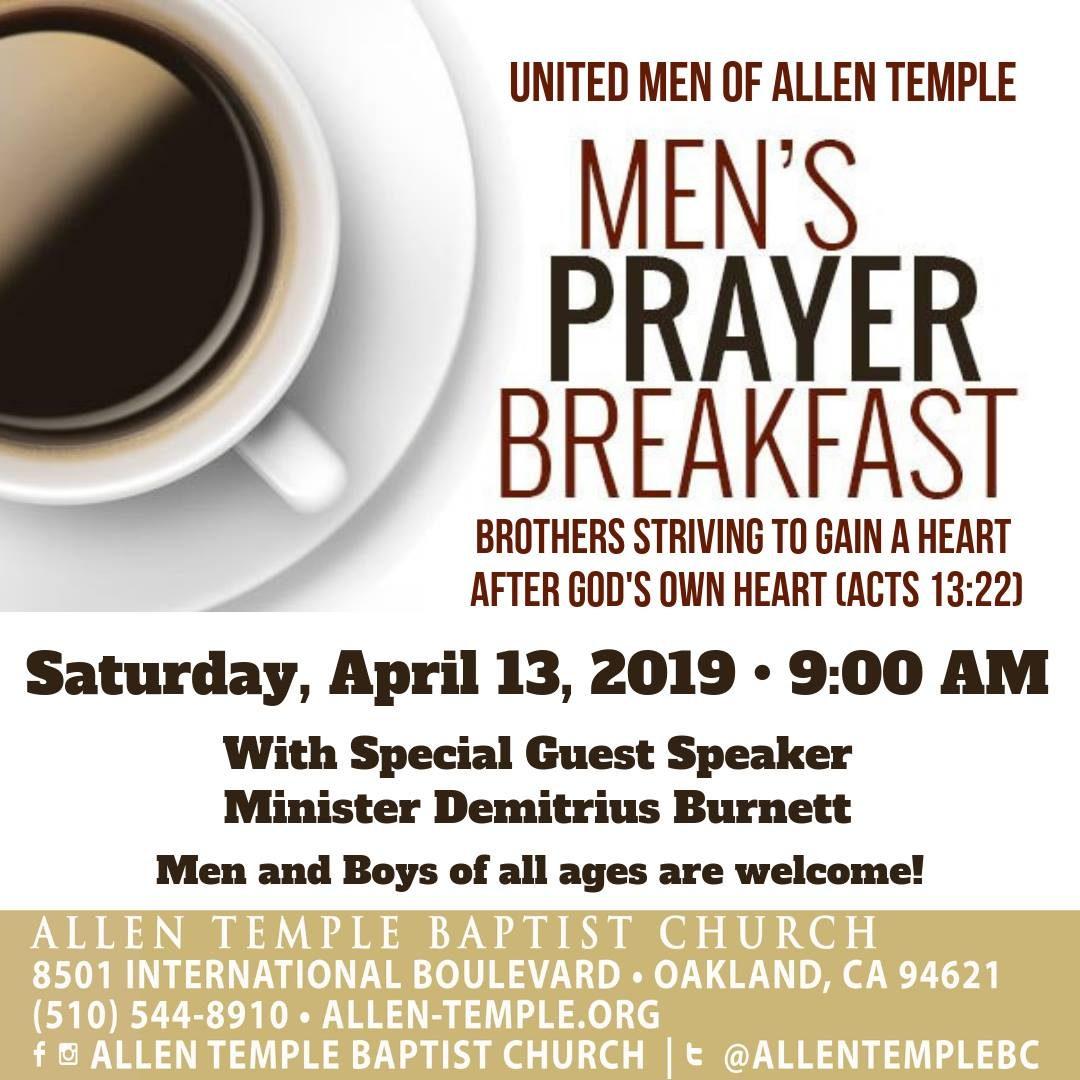 United Men Of Allen Temple Prayer Breakfast 2019