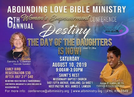 Abounding Love Annual Womens Conference 2019 Recovered