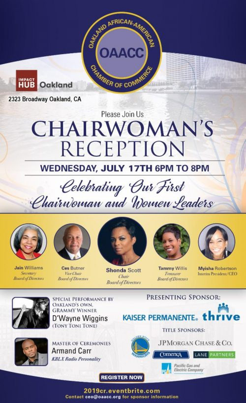 Oakland African American Chamber of Commerce - Chairwoman's Reception