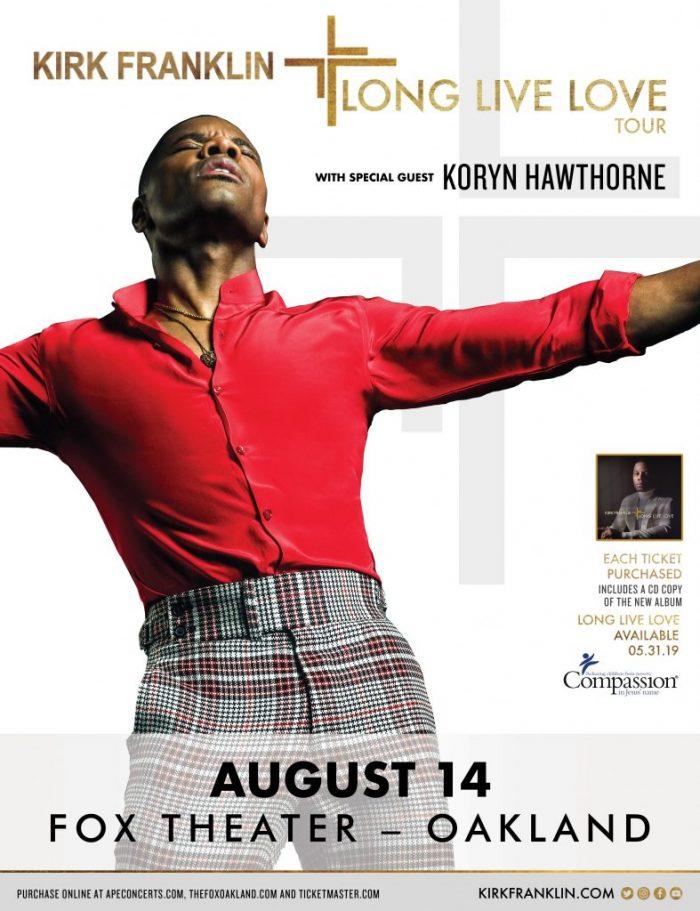Kirk Franklin – Long Live Love Tour w/ Koryn Hawthorne