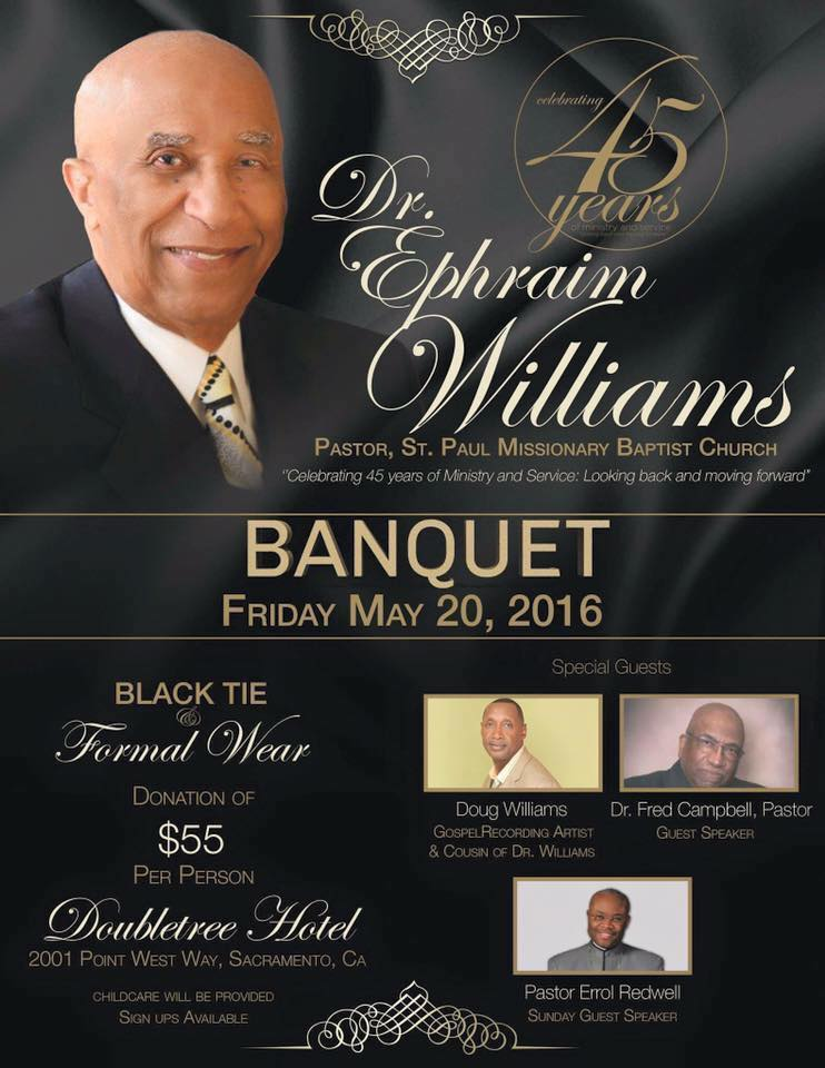 Dr. Ephriam Williams 45th Anniversary