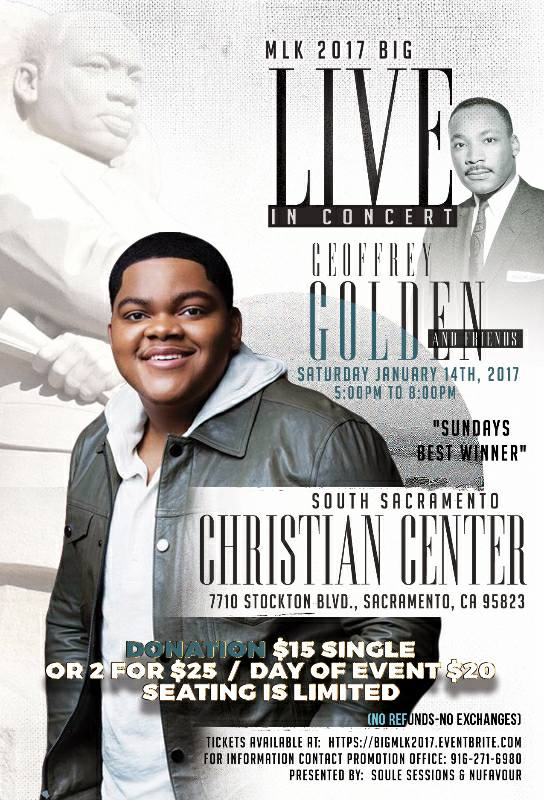 MLK 2017: Geoffrey Golden & Friends Live in Concert