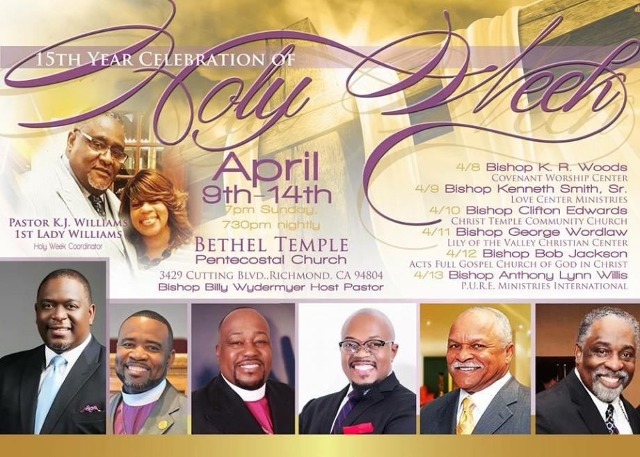 Bethel Temple Holy Week Revival