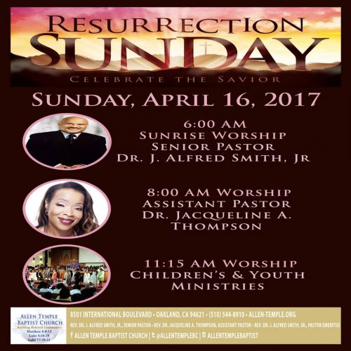 Allen Temple Easter Sunrise Service 2017