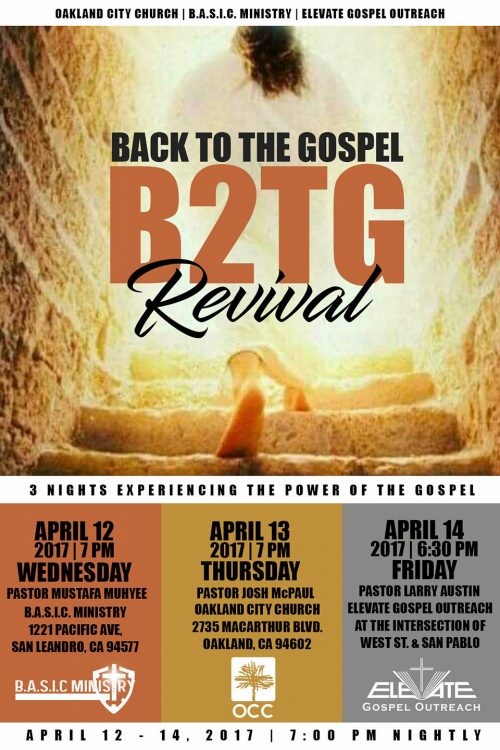 Back to the Gospel - Holy Week Revival