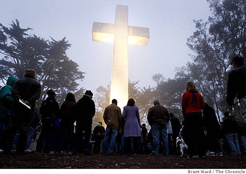 Mount Davidson Cross - Easter Sunrise Service