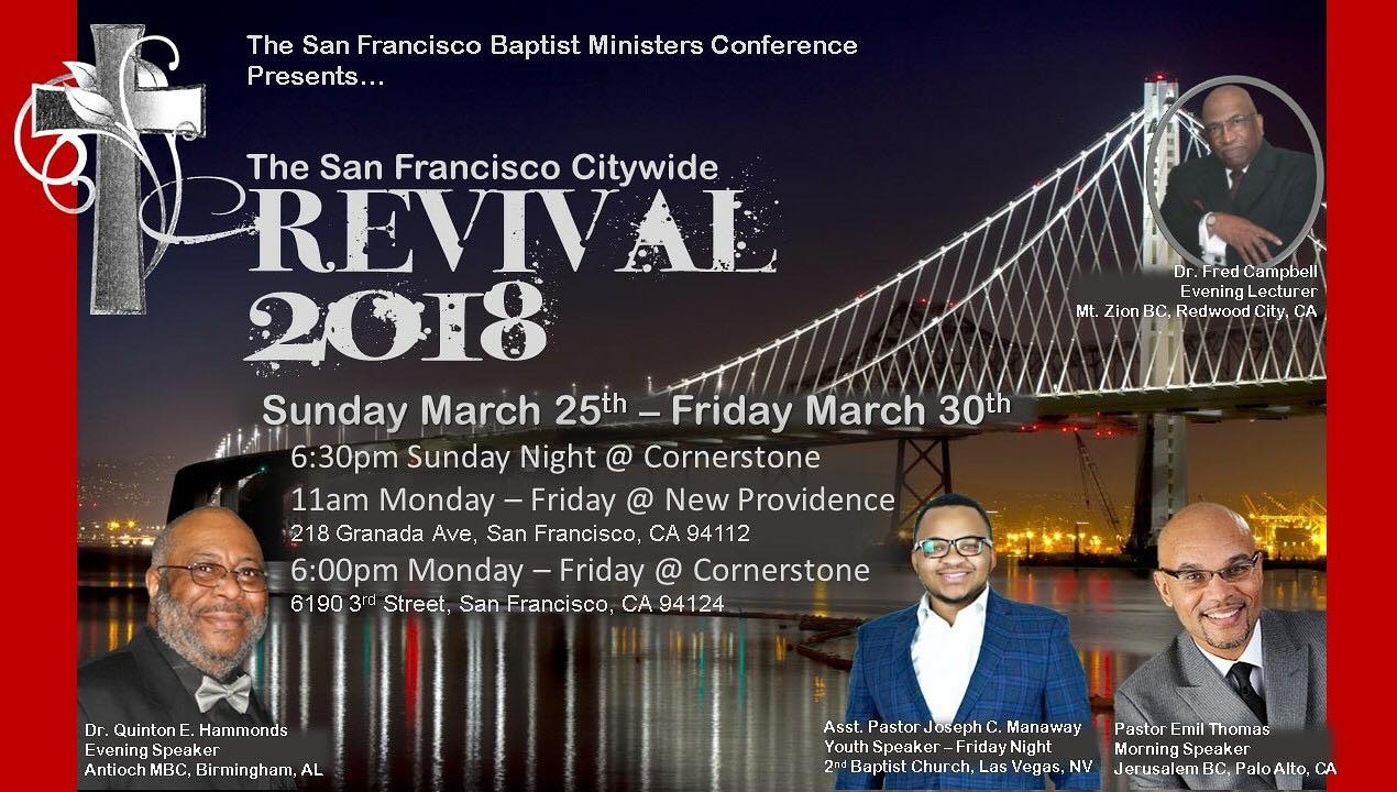 San Francisco City-Wide Revival 2018