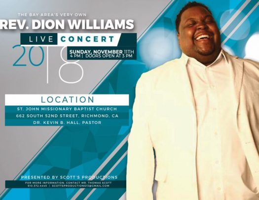 Rev Dion Williams Live In Concert 2018