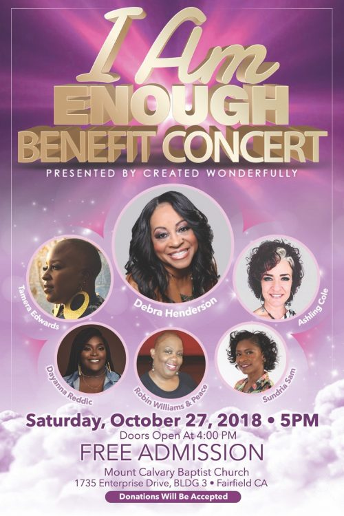 Created Wonderfully I Am Enough Benefit Concert 2018