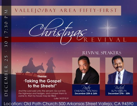 Old Path Miracle Cathedral Cogic Christmas Revival 2018