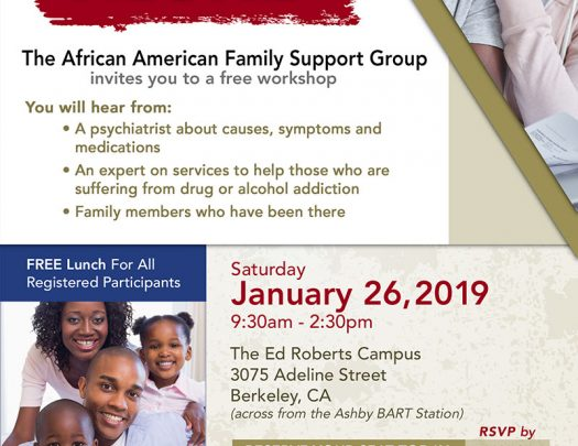 The African American Family Support Group Mental Health Workshop Berkeley 2018