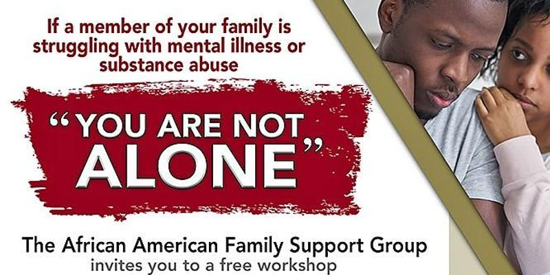 The African American Family Support Group Mental Health Workshop Berkeley Header 2018