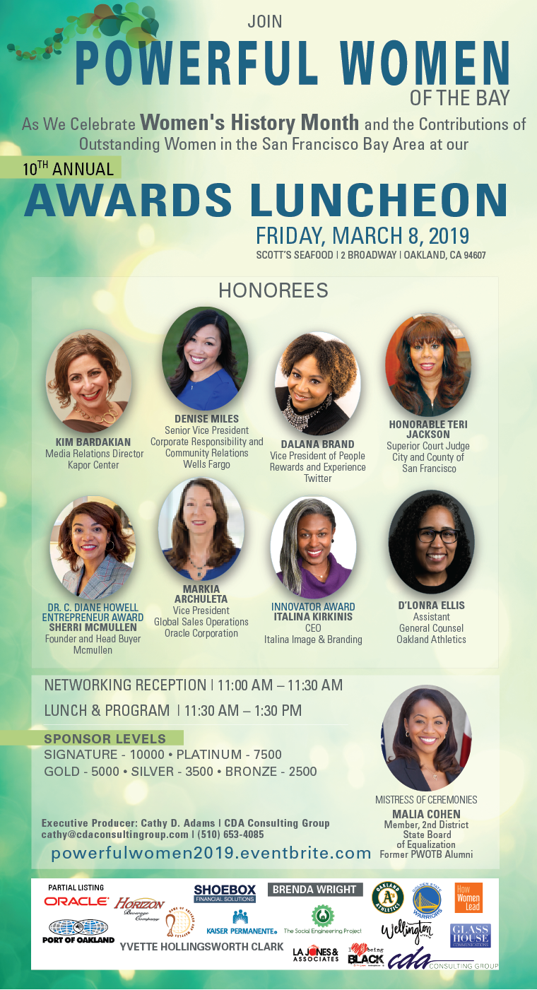 Powerful Women Of The Bay 2019
