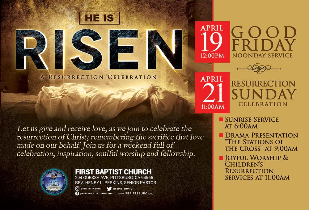 First Baptist Church Pittsburg Holy Week 2019