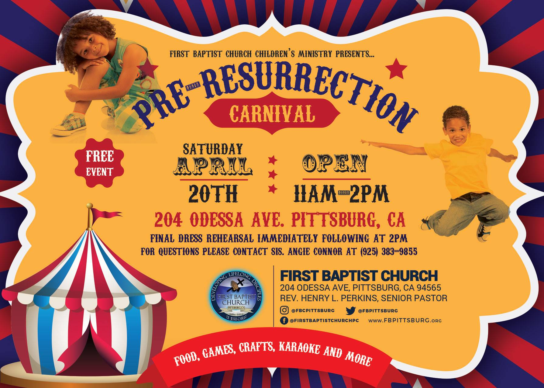 First Baptist Church Pre Easter Carnival 2019