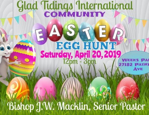 Glad Tidings Cogic Easter Egg Hunt 2019