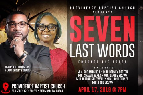Providence Baptist Church Good Friday 2019