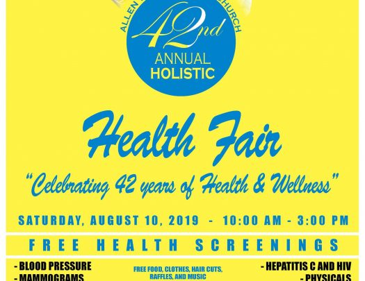 Allen Temple Holistic Health Fair 2019
