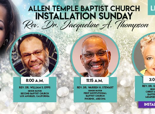 Rev. Dr. Jacqueline Thompson Pastoral Installation Allen Temple 2019