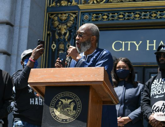 Mayor London Breed & Jamie Foxx Join Clergy and SF NAACP for Kneel-In at City Hall [Photos]