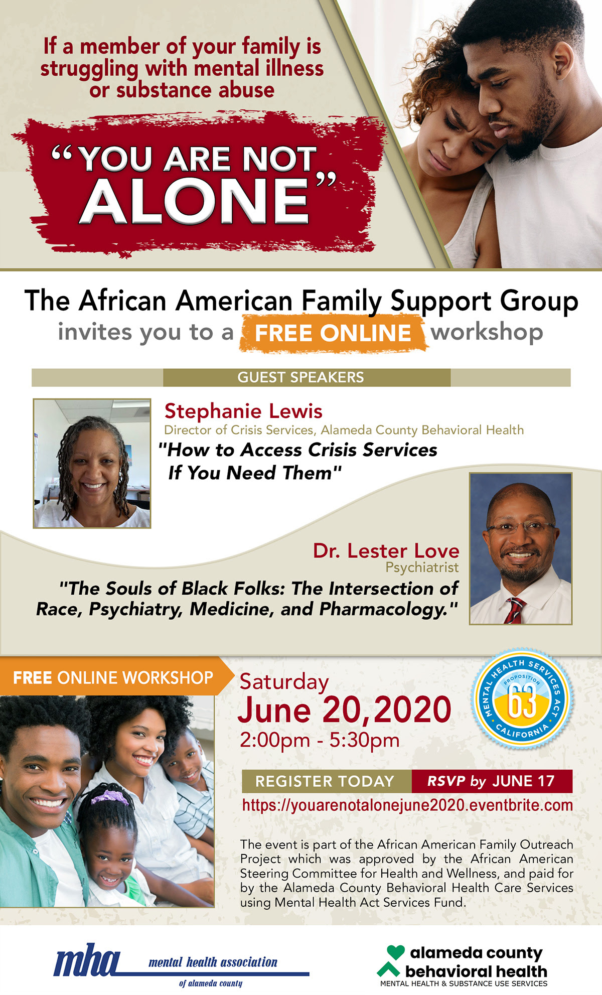 You Are Not Alone - African American Family Support Group