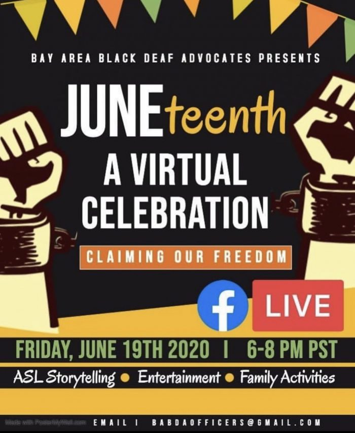 Juneteenth Deaf Advocates 2020